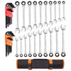 Deluxe Ratcheting Wrench Combo Set