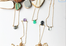 Load image into Gallery viewer, Petite Gemstone Necklace