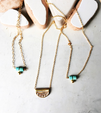 Load image into Gallery viewer, Turquoise droplet Necklace