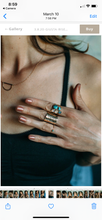 Load image into Gallery viewer, Turquoise and Gold statement ring