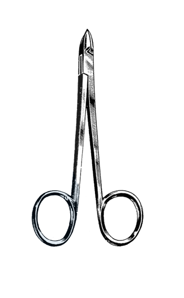 "Cuticle Nipper, Convex Blade, Ring Handle, Chrome 4"" (10 cm)"