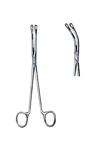 "Blake Gall Stone Forceps, Curved 8 1/4"" (21 cm)"