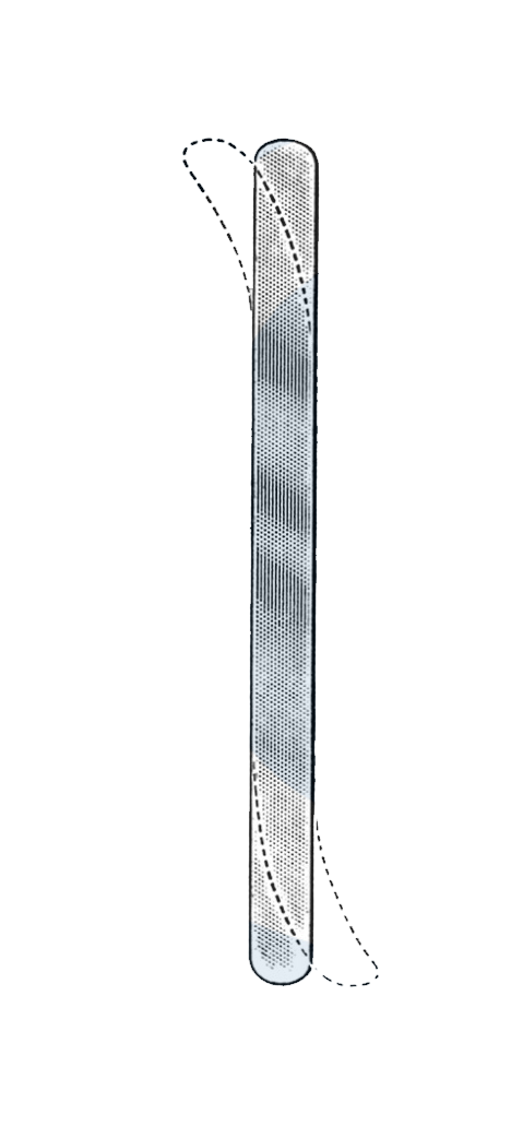 "Ribbon Retractor, Malleable, 13"", 1 1/4"" Wide (32 mm) - Garana Industries"