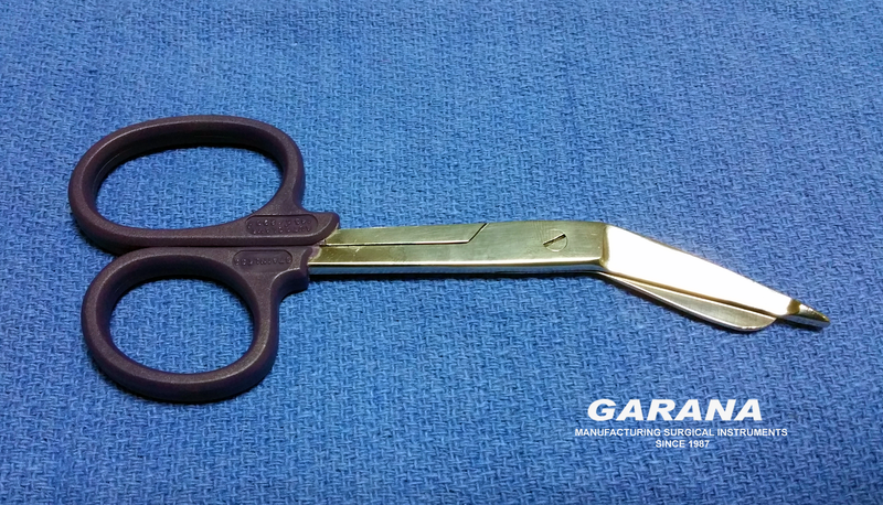 "Lister Bandage Scissor 5.5"" Plastic Ring Navy Color"
