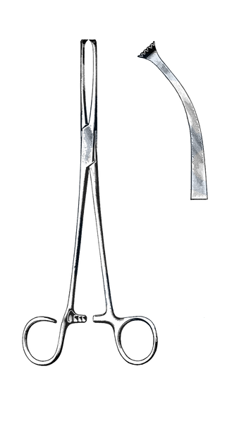 "Colver Tonsil Seizing Forceps, Curved 7 1/2"" (19 cm)"