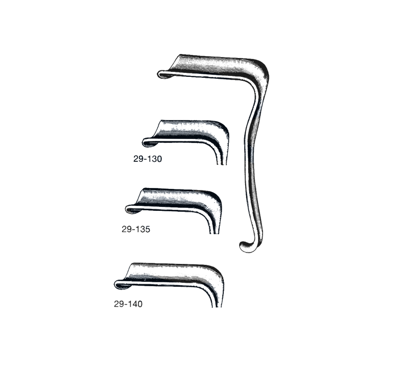 "Eastman Vaginal Retractor 7"",  1 1/2"" x 3"" ( 38 mm x 76 mm ) - Garana Industries"
