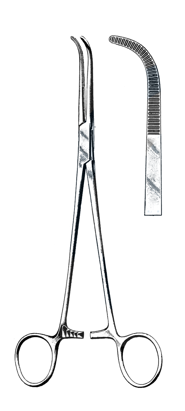 "Mixter Forceps, Cross Serrated 5 1/2"" (14 cm) - Garana Industries"