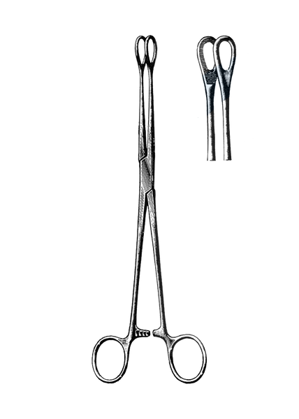 "Foerster Sponge Forceps, Serrated, Straight 9 1/2"" (24 cm)"