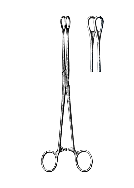 "Foerster Sponge Forceps, Smooth, Straight 9 1/2"" (24 cm)"