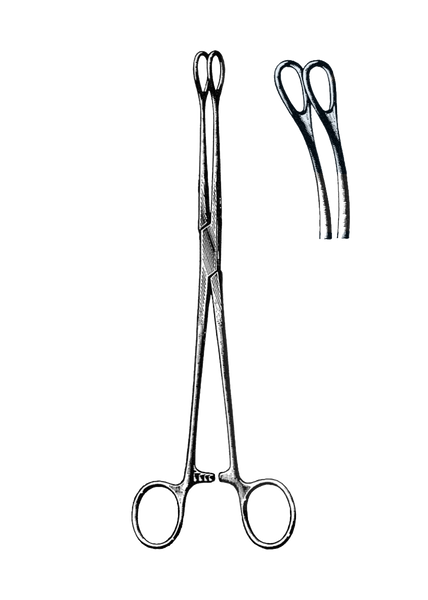 "Foerster Sponge Forceps, Smooth, Curved 9 1/2"" (24 cm)"