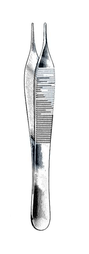 "Adson Dressing & Tissue Forceps, Serrated Tips, 4 3/4"" (12 cm) - Garana Industries"