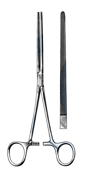 "Bainbridge Intestinal Forceps, Straight, 7 1/4"" (18.5 cm )"