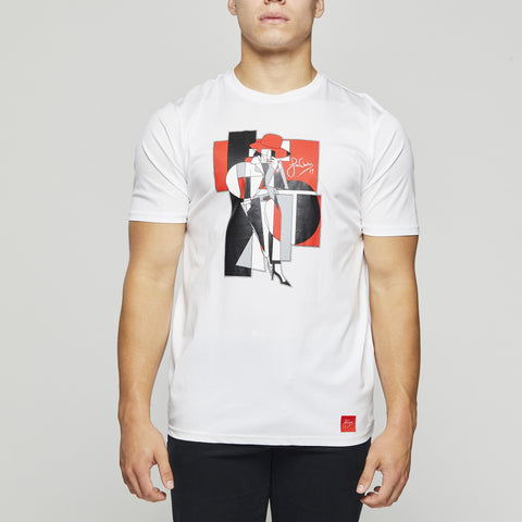 John Charles Designed ROGUE Graphic T-Shirts with Ultra Soft Finish - WHITE