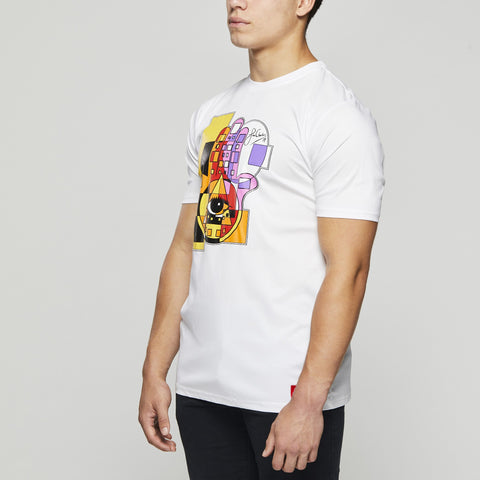 John Charles Designed HAMSA Graphic T-Shirts with Ultra Soft Finish - WHITE