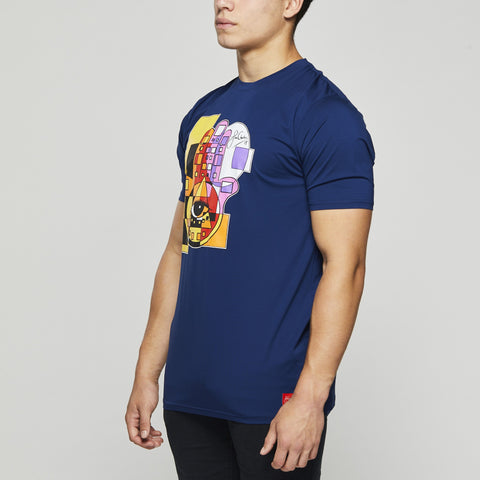 John Charles Designed HAMSA Graphic T-Shirts with Ultra Soft Finish - BLUE