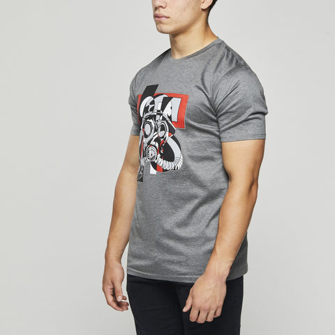 Luxury Classic Cotton – John Charles Designed GAS MASK Graphic T-Shirts - GREY