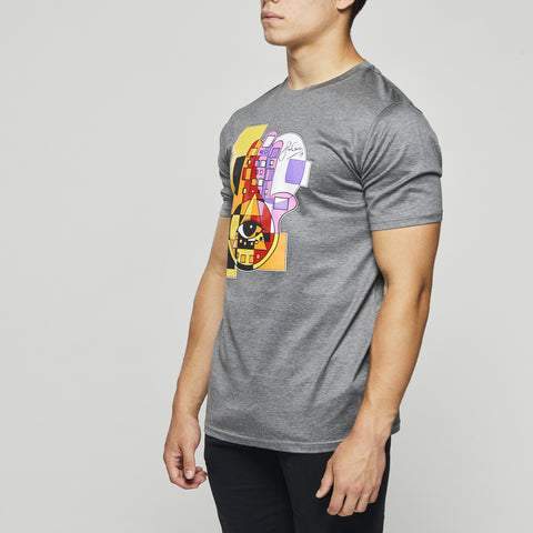 John Charles Designed HAMSA Graphic T-Shirts with Ultra Soft Finish - GREY