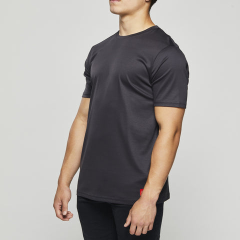Luxury Classic Cotton – John Charles Designed T-Shirts with Ultra Soft Finish - GRAPHITE
