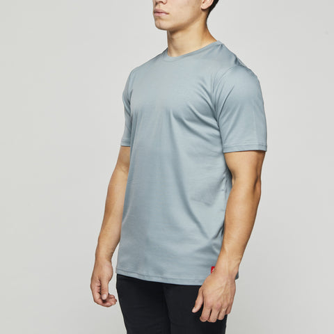 Luxury Classic Cotton – John Charles Designed T-Shirts with Ultra Soft Finish - STEEL