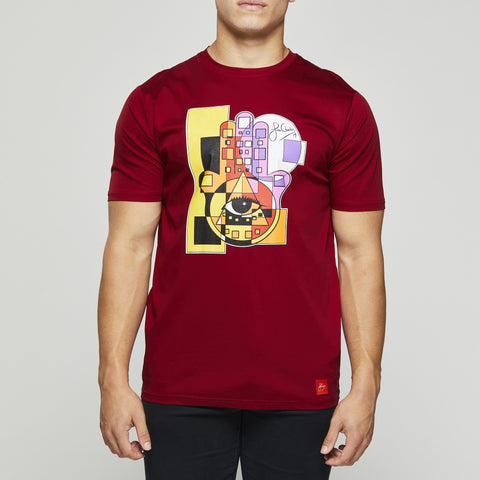 John Charles Designed HAMSA Graphic T-Shirts with Ultra Soft Finish - RED