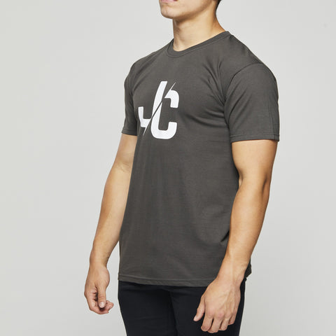Classic Cotton T – John Charles Designed JC LOGO T-Shirts -  GREY
