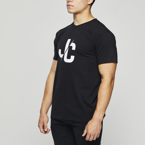 Classic Cotton T – John Charles Designed JC LOGO T-Shirts - BLACK