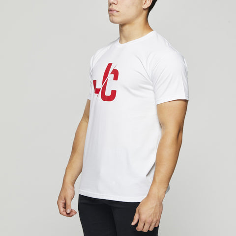 Classic Cotton T – John Charles Designed JC LOGO T-Shirts - WHITE
