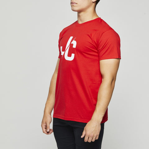 Classic Cotton T – John Charles Designed JC LOGO T-Shirts - RED