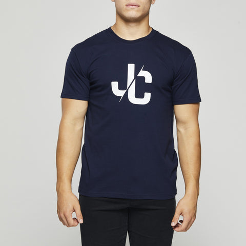 Classic Cotton T – John Charles Designed JC LOGO T-Shirts - NAVY