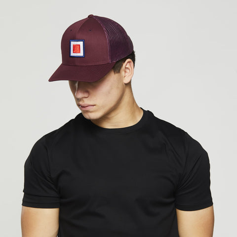 John Charles Apparel – TARGET – TRADEMARK Adjustable Mesh Trucker Cap - MAROON