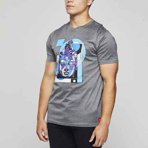 John Charles Designed BUDDHA Graphic T-Shirts with Ultra Soft Finish - GREY
