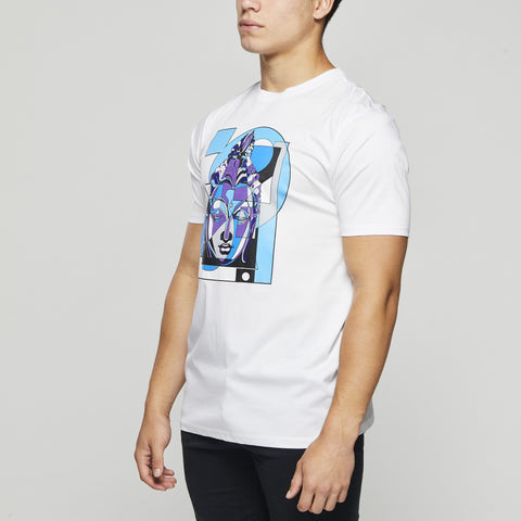 John Charles Designed BUDDHA Graphic T-Shirts with Ultra Soft Finish - WHITE
