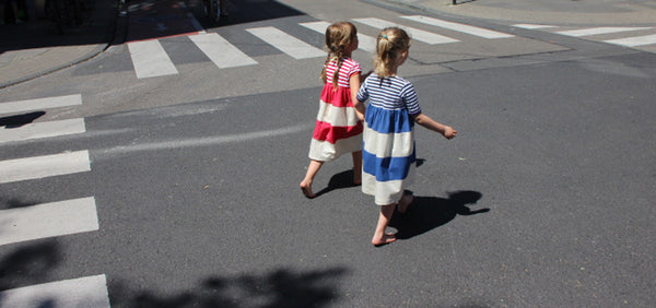 dress stripes blue and red