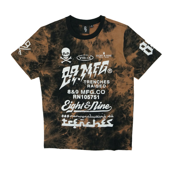Trenches Raised T-Shirt Tie Dye Black