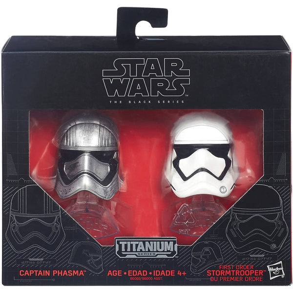 Star Wars: The Black Series Titanium Helmet #2 Captain Phasma And Stormtrooper