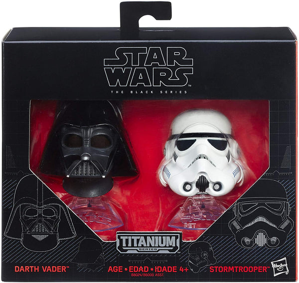 Star Wars: The Black Series Titanium Helmet #3 Darth Vader And Storm Trooper