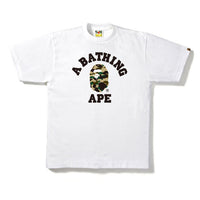 First Camo College Tee White