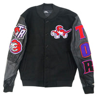 Toronto Raptors Retro Team Logo Varsity Jacket Black