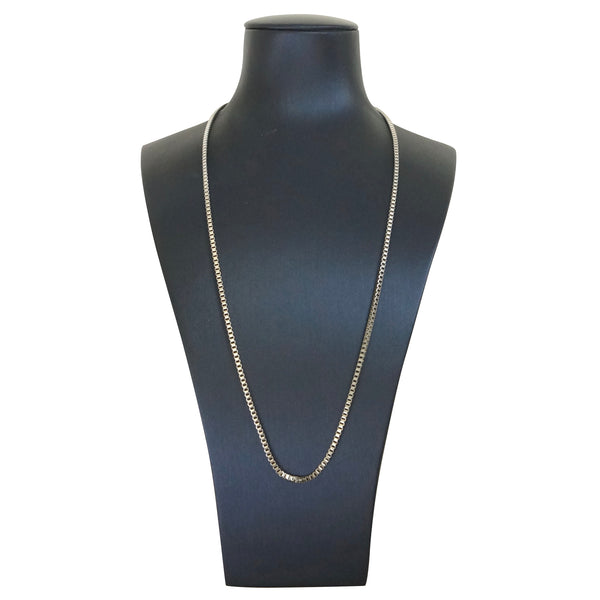 SS Steel  Thin Box Chain 20INCH