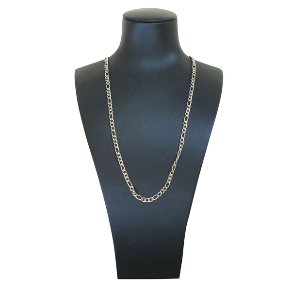 Figaro Chain Thin 20 inches Silver