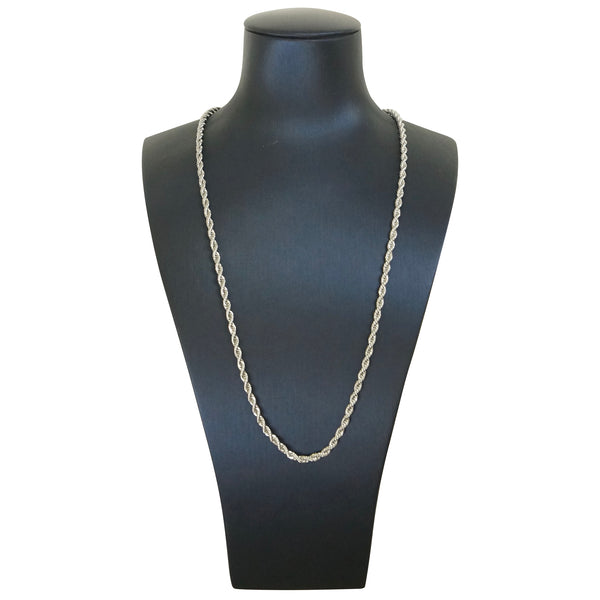 Thin Rope Chain Silver 20 inches