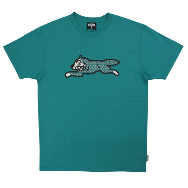 Fossil Fuel SS Tee Green Blue