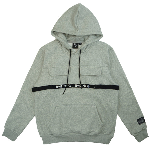 Strapped Up Hoodie Grey