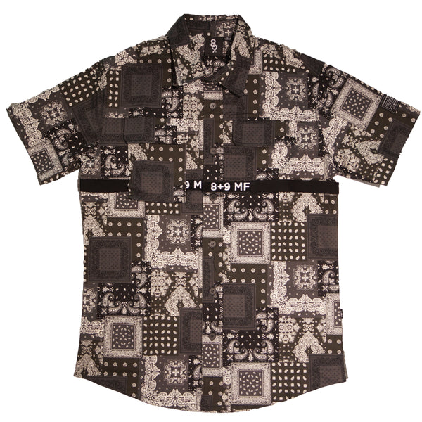 Strapped Up Button Shirt Paisley