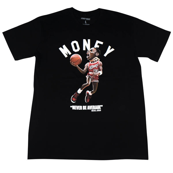 MJ Never Be Average Tee Black