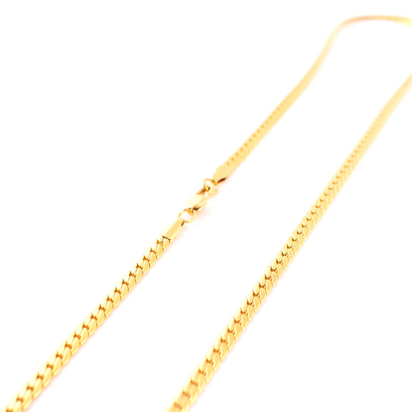 Chain Flat Curb Small Link 20inch Gold