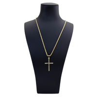 Stone Cross 24 Inches Chain
