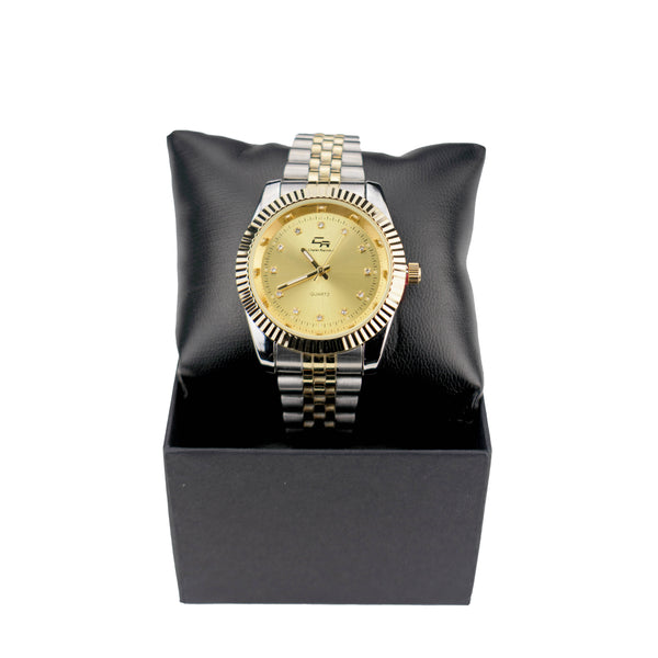 Two Tone Plain Jane Watch