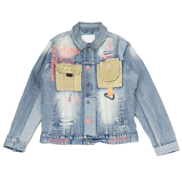 Hand Engineered Denim Jacket