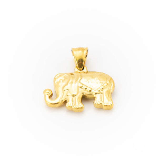 SS Steel Elephant Pendant Small